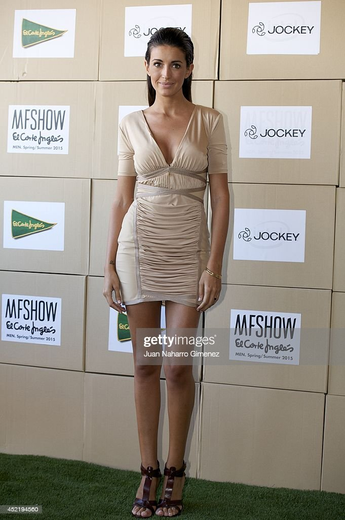 Spanish model Noelia Lopez attends the Jockey show during MFSHOW 2014 day 2 at COAM on July 15 2014 in Madrid Spain