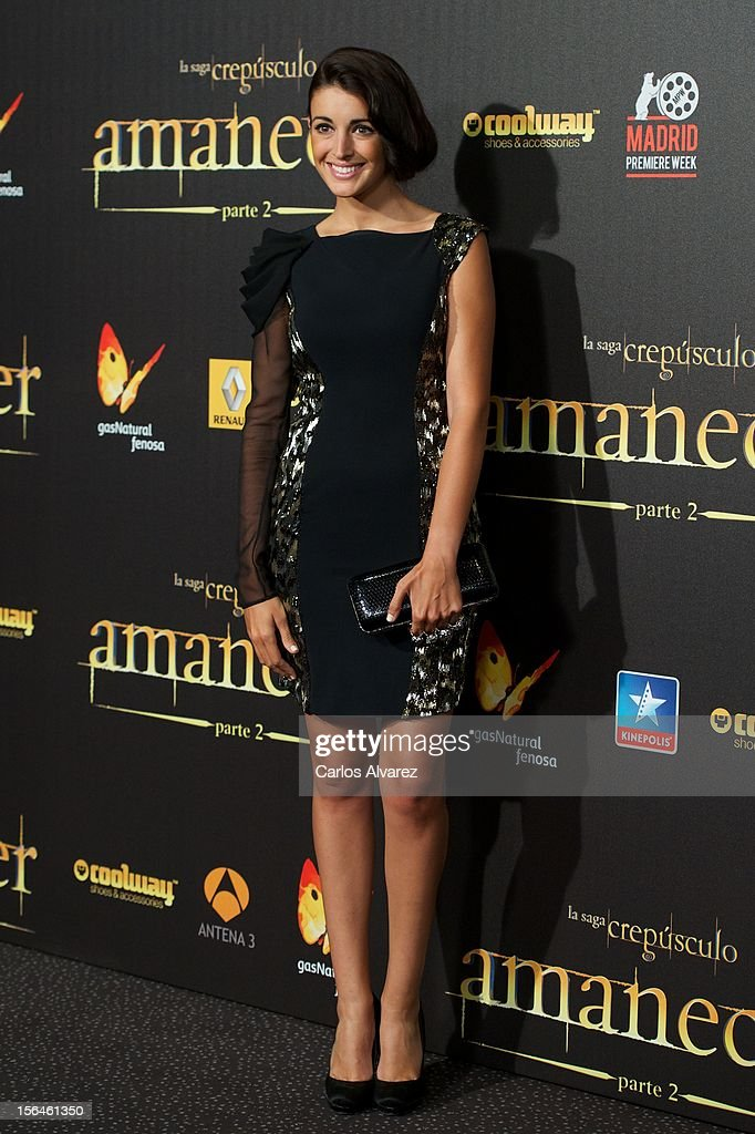 Spanish model Noelia Lopez attends the 'The Twilight Saga: Breaking Dawn - Part 2' (La Saga Crepusculo: Amanecer Parte 2) premiere at the Kinepolis cinema on November 15, 2012 in Madrid, Spain.