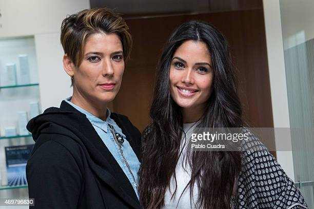 Spanish model Patricia Yurena and Vanessa Klein attend the 'Concepto' opening event at the 'El Corte Ingles' Store on April 15 2015 in Madrid Spain
