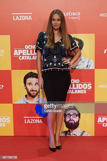 Spanish model Priscila de Gustin attends the 'Ocho Apellidos Catalanes' premiere at the Capitol cinema on November 18 2015 in Madrid Spain