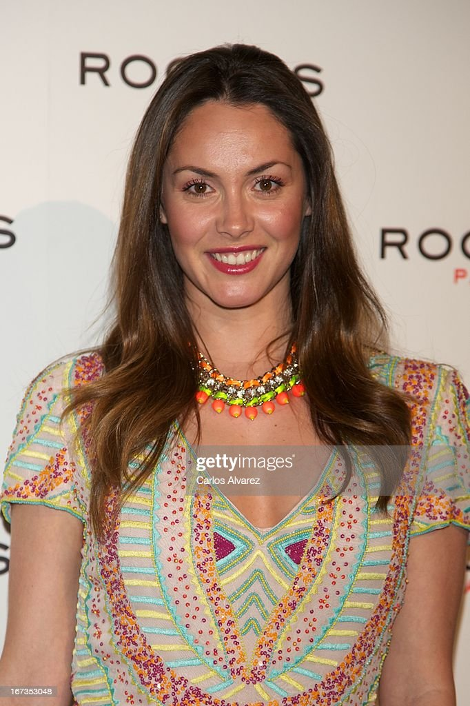 Spanish model Priscila de Gustin attends the Rochas event at the French embassy on April 24, 2013 in Madrid, Spain.