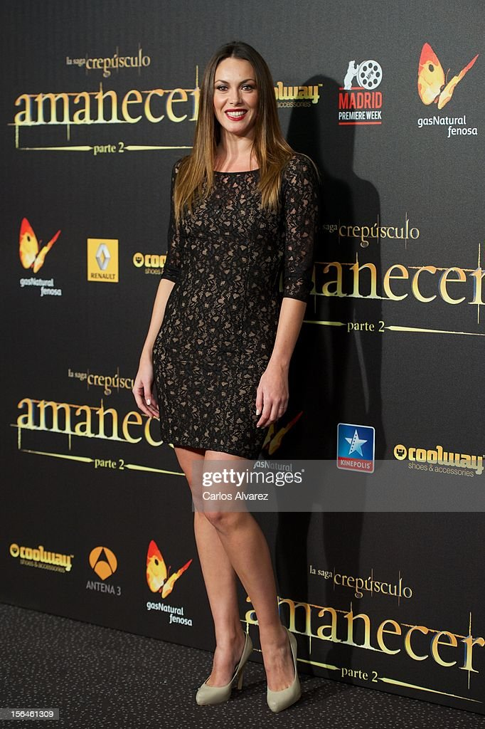 Spanish model Priscila de Gustin attends the 'The Twilight Saga: Breaking Dawn - Part 2' (La Saga Crepusculo: Amanecer Parte 2) premiere at the Kinepolis cinema on November 15, 2012 in Madrid, Spain.
