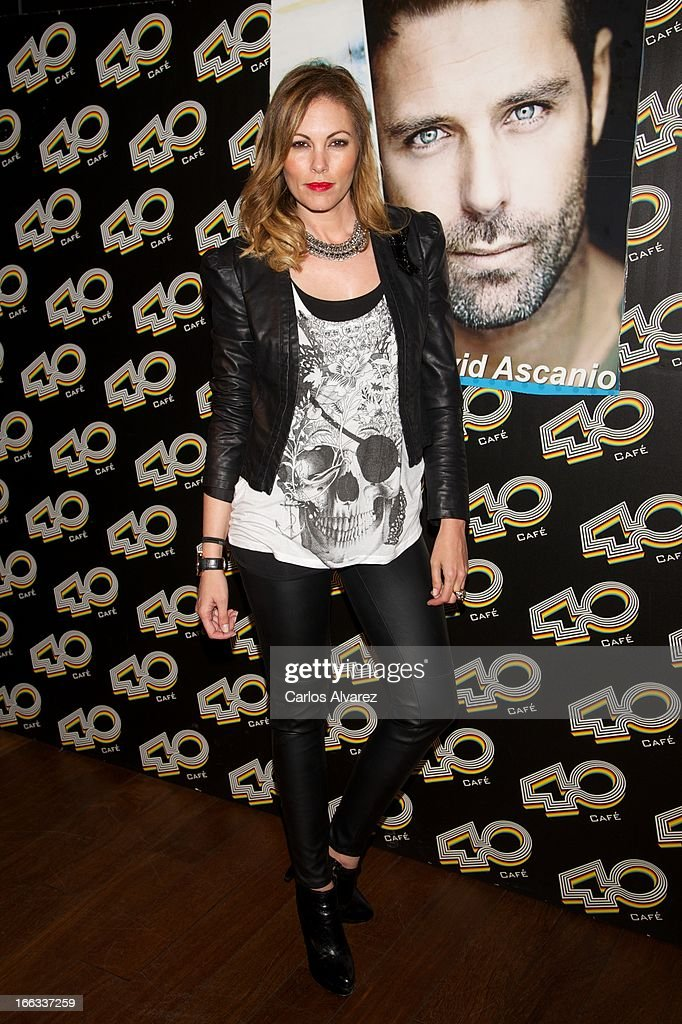 Spanish model Raquel Rodriguez attends David Ascanio concert at the Cafe 40 Club on April 11, 2013 in Madrid, Spain.