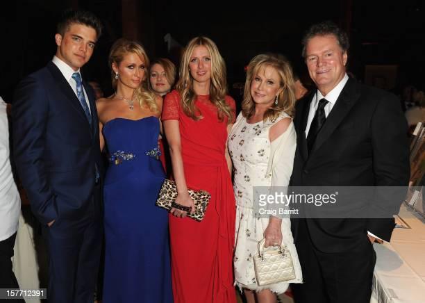 Spanish model River Viiperi Paris Hilton Nicky Nilton Kathy Hilton and Rick Hilton attend European School Of Economics Foundation Vision And Reality...