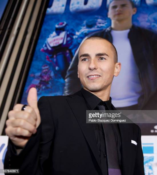 Spanish MotoGP rider Jorge Lorenzo attends 'Jorge' premiere at Capitol Cinema on December 16 2010 in Madrid Spain