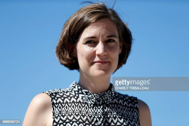 Spanish movie director Carla Simon poses during a photocall for the Cabourg Romantic Film Festival in Cabourg northwestern France on June 17 2017 /...