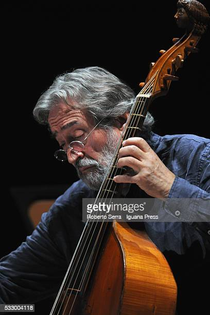 Spanish musician Jordi Savall performs the Le Concert des Nations in concert for Bologna Festival at Auditorium Manzoni on May 19 2016 in Bologna...
