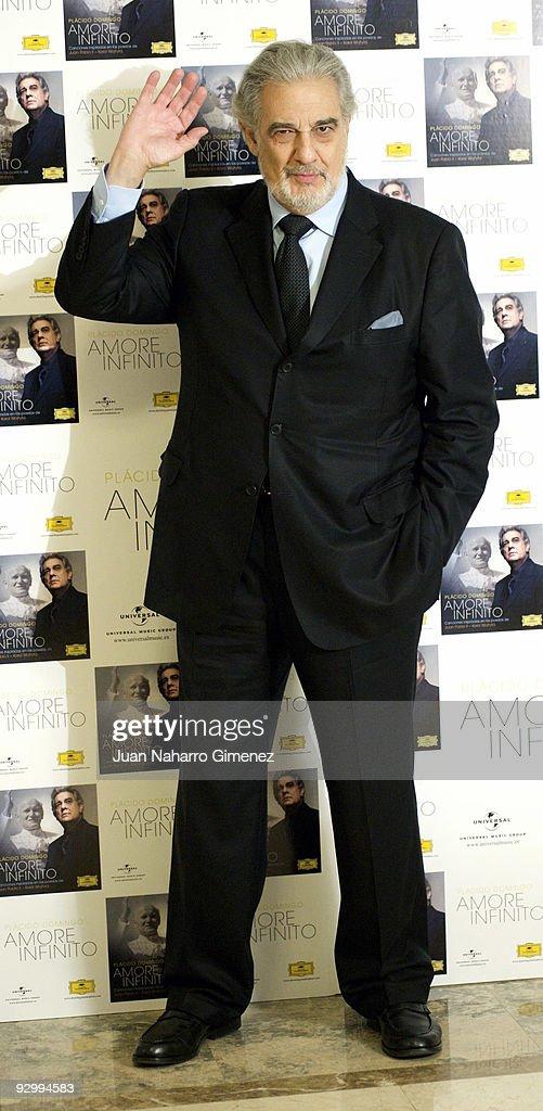 Spanish opera singer Placido Domingo presents his new album 'Amore Infinito' on November 11, 2009 in Madrid, Spain.