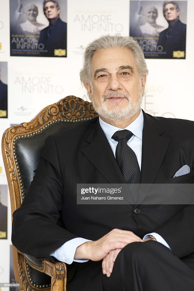 Spanish opera singer <a gi-track='captionPersonalityLinkClicked' href=/galleries/search?phrase=Placido+Domingo&family=editorial&specificpeople=204571 ng-click='$event.stopPropagation()'>Placido Domingo</a> presents his new album 'Amore Infinito' on November 11, 2009 in Madrid, Spain.