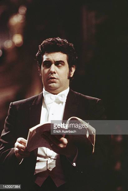 Spanish operatic tenor Placido Domingo performing 1971