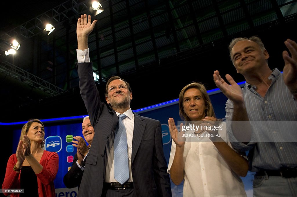 Spanish opposition party Partido Popular General Secretary's Maria Dolores Cospedal the President of the regional government of Andalucia Javier...