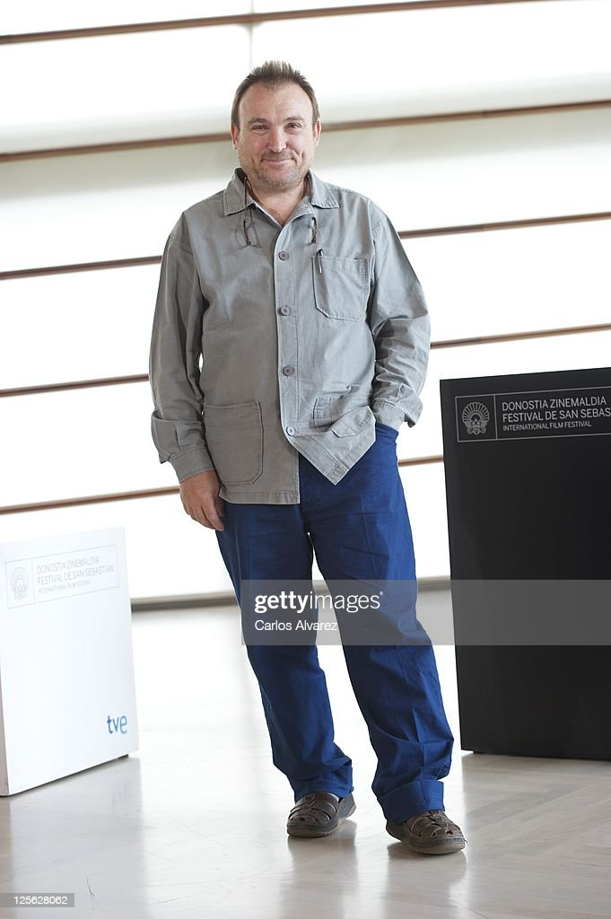 Spanish painter Miquel Barcelo attends 'Los Pasos Dobles' photocall at the Kursaal Palace during the 59th San Sebastian International Film Festival...
