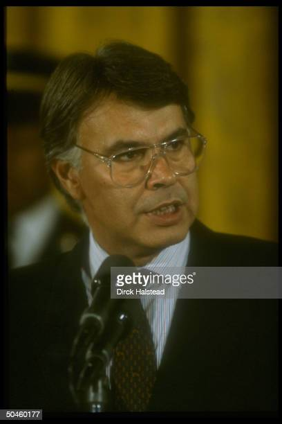 Spanish PM Felipe Gonzalez during visit to Bush WH