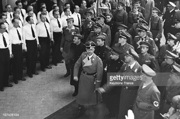 Spanish Police Review By Himmler At Madrid In Spain During Thirties