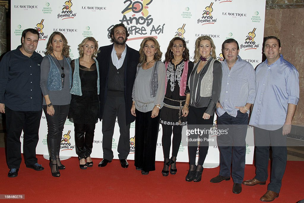 Spanish pop band Siempre Asi attends '20 anos Siempre Asi' concert photocall at Rialto theatre on December 17, 2012 in Madrid, Spain.