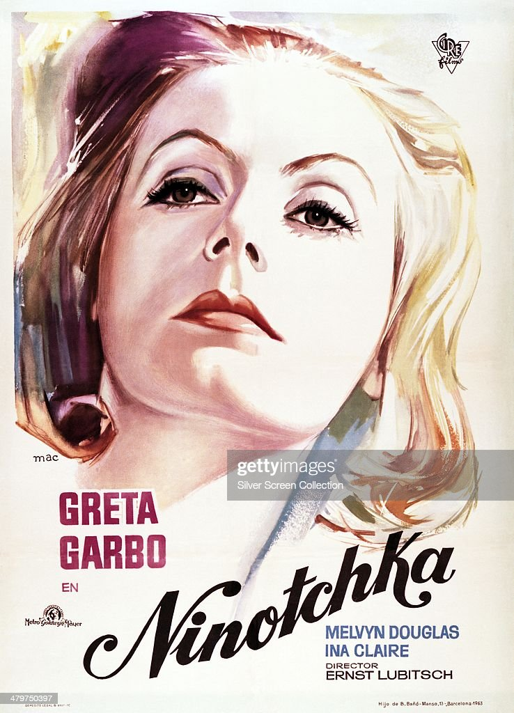 A Spanish poster for 'Ninotchka' directed by Ernst Lubitsch and starring Greta Garbo 1939