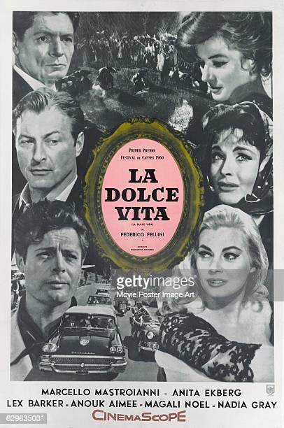 A Spanish poster for the 1960 Italian comedydrama film 'La Dolce Vita' written and directed by Federico Fellini The film stars Marcello Mastroianni...