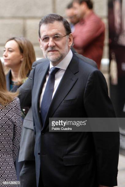 Spanish president Mariano Rajoy attends 'Requiem' by Verdi at Toledo Cathedra on April 12 2014 in Toledo Spain
