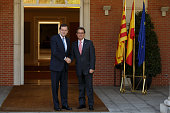 Spanish Prime Minister Mariano Rajoy and Catalonia's President Artur Mas meet at Moncloa Palace on July 30 2014 in Madrid Spain Catalonia's President...