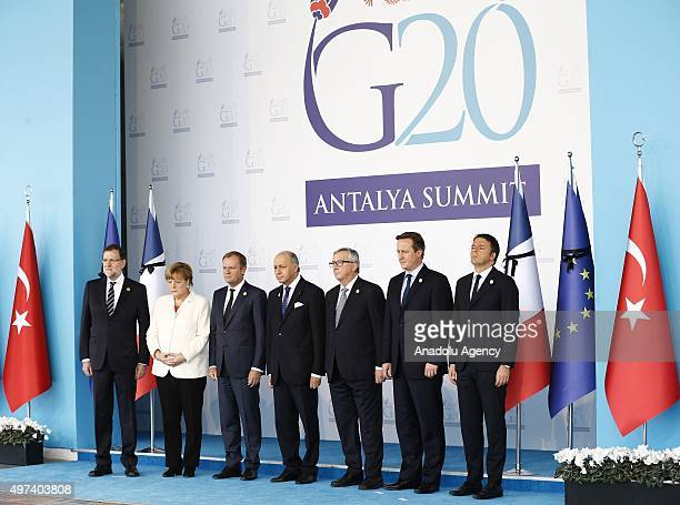 Spanish Prime Minister Mariano Rajoy Brey German Chancellor Angela Merkel President of the European Council Donald Tusk French Foreign Minister...