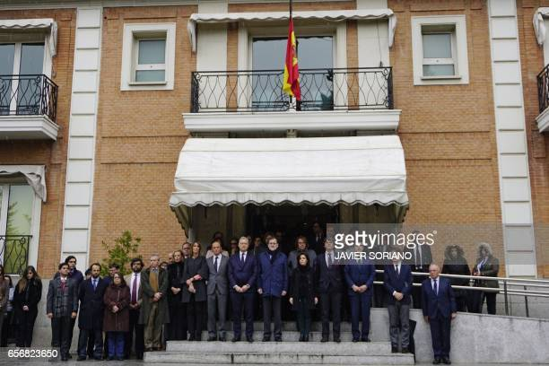 Spanish Prime Minister Mariano Rajoy British Ambassador to Spain Simon Manley Spanish vicePresident of the Government and Minister of the Presidency...