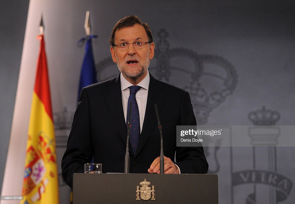 Spanish Prime Minister Mariano Rajoy Reacts to Catalan Regional Election Results