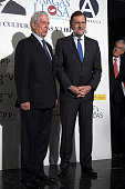 Spanish Prime Minister Mariano Rajoy Peruvian author and Nobel Prize in Literature Mario Vargas Llosa and Former President of Chile Sebastian...
