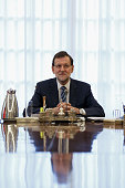 Spanish Prime Minister Mariano Rajoy presides over a cabinet meeting at Moncloa Palace on September 29 2014 in Madrid Spain Spanish Government holds...