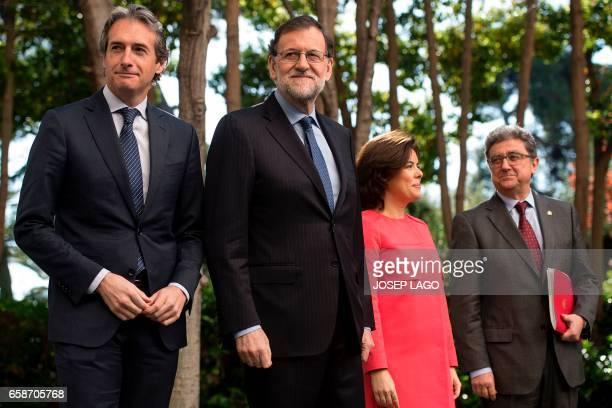 Spanish Prime Minister Mariano Rajoy Spanish Minister of Public Works Inigo de la Serna Spanish Deputy Prime Minister and Minister of the Regions...
