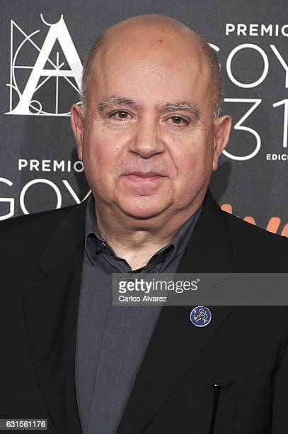 Spanish producer Agustin Almodovar attends the Goya cinema awards candidates 2016 cocktail at the Ritz Hotel on January 12 2017 in Madrid Spain
