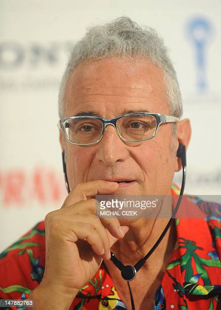 Spanish producer Luis Minarro attends the press conference to present the film ''La lapidacio de Sant Esteve'' in competition at the 47th Karlovy...