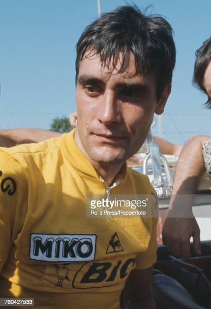 Spanish professional road race cyclist Luis Ocana pictured competing for the Bic cycling team in the 1971 Tour de France in France in July 1971