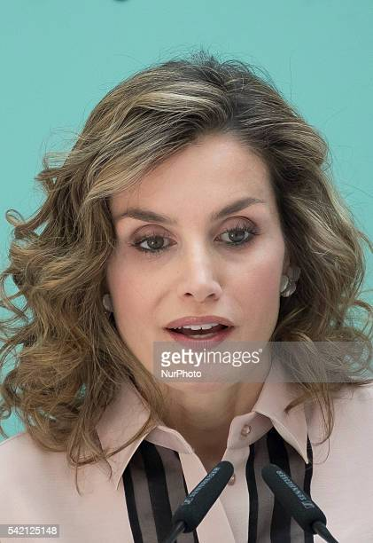 Spanish Queen Letizia during the conmemorative ceremony of the 30th anniversary of Aid against Drug Addiction Foundation at the Real Casa de Correos...