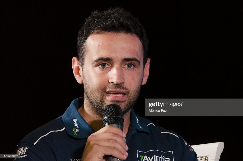Spanish rider Hector Barbera during a press conference to present the test for the Grand Prix of Argentina 2014 MotoGP, Moto2 and Moto3 on July 2, 2013 in Buenos Aires, Argentina.