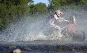 Spanish rider Joan Barreda Bort powers his Honda during the Stage 6 of the Dakar 2014 between Tucuman and Salta Argentina on January 9 2014 AFP PHOTO...
