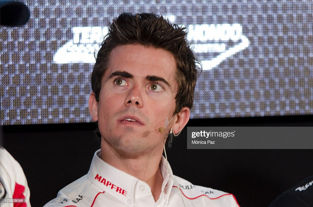 Spanish rider Nico Terol during a press conference to present the test for the Grand Prix of Argentina 2014 MotoGP, Moto2 and Moto3 on July 2, 2013 in Buenos Aires, Argentina.