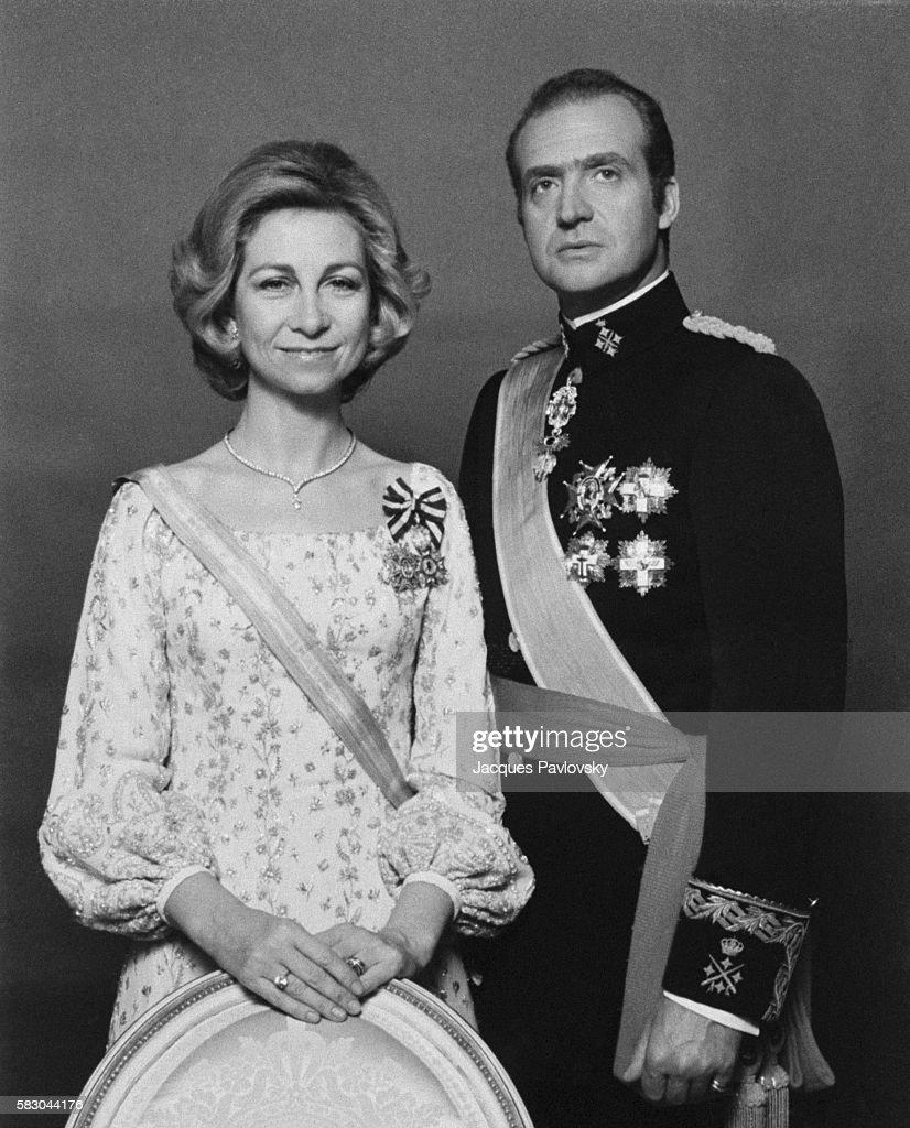 Queen Sofia and King Juan Carlos. | Location: Madrid, Spain.