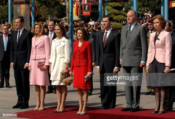 Spanish Royal family attend 'Bando De Los Alcaldes De Mostoles' Anniversary on May 02 2008 at Mostoles city near of Madrid