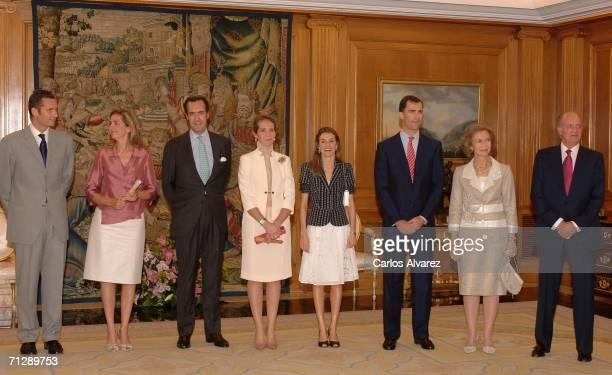 Spanish Royal Family Inaki Urdangarin Princess Cristina Jaime Marichalar Princess Elena Princess Letizia Prince Felipe Queen Sofia and King Juan...
