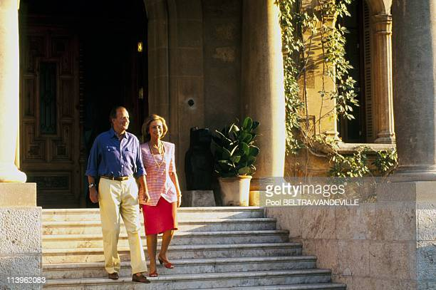Spanish Royal Family on Holiday in Palma Spain On August 01 1995King Juan Carlos of Spain and Queen Sofia in Palma de Mallorca