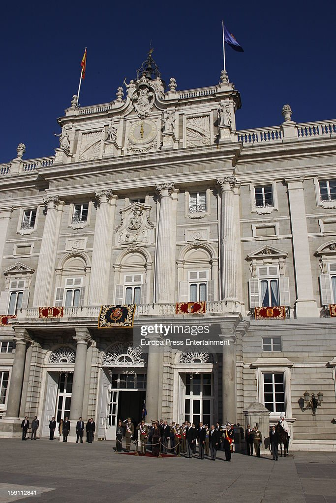 Spanish Royals attend the New Year's Military Parade on January 6, 2013 in Madrid, Spain.