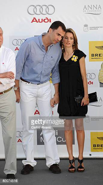 Spanish Royals Crown Prince Felipe and Princess Letizia attend 14th Breitling Sailing Cup Ceremony Awards at San Carlos Castle Military Museum on...