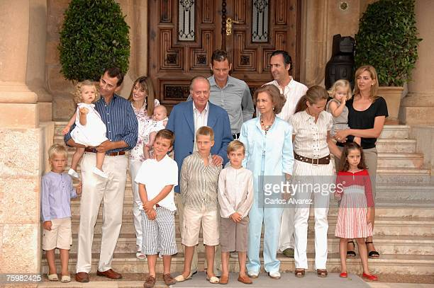 Spanish Royals Family Miguel Princess Leonor Crown Prince Felipe Princess Letizia Princess Leonor King Juan Carlos Juan Valentin Inaki Urdangarin...