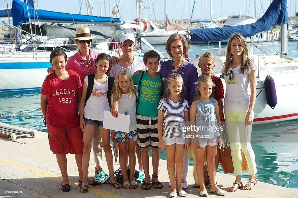 Spanish Royals At The Calanova Nautic Club In Mallorca