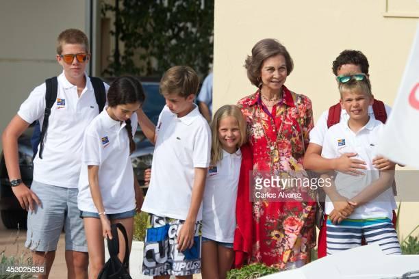 Spanish Royals Juan Valentin Urdangarin Victoria Federica Marichalar Pablo Nicolas Urdangarin Irene Urdangarin Queen Sofia of Spain Miguel Urdangarin...