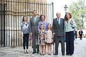 Spanish Royals Princess Letizia of Spain Prince Felipe of Spain Queen Sofia of Spain Princess Sofia of Spain Princess Leonor of Spain King Juan...