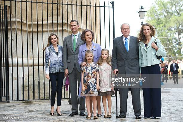 Spanish Royals Princess Letizia of Spain Prince Felipe of Spain Queen Sofia of Spain Princess Sofia of Spain Princess Leonor of Spain King Juan...