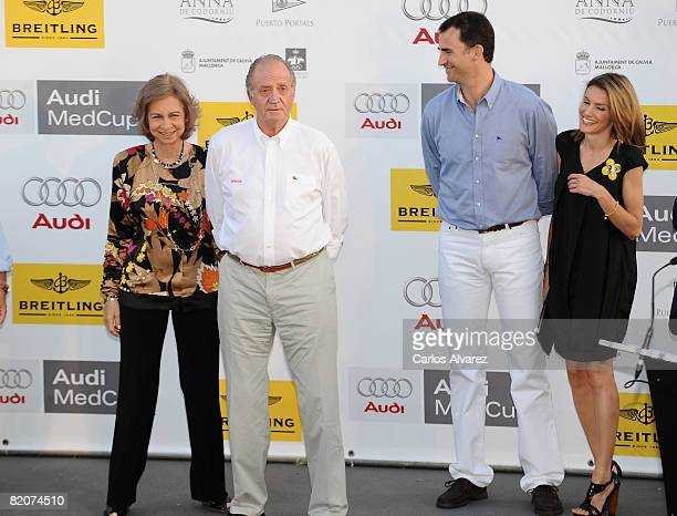 Spanish Royals Queen Sofia King Juan Carlos Crown Prince Felipe and Princess Letizia attend 14th Breitling Sailing Cup Ceremony Awards at San Carlos...