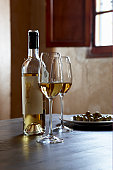 Spanish sherry and olives