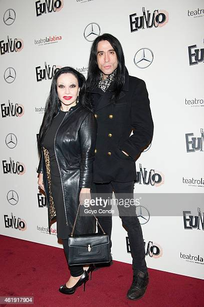 Spanish sing star Alaska and Mario Vaquerizo attend the ' EL Eunuco' on January 21 2015 in Madrid Spain